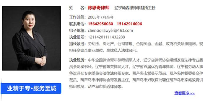 陈思奇律师